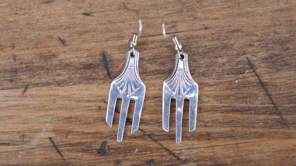 Deco Fork Earrings