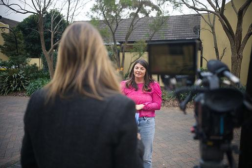 Sam Payne being interviewed