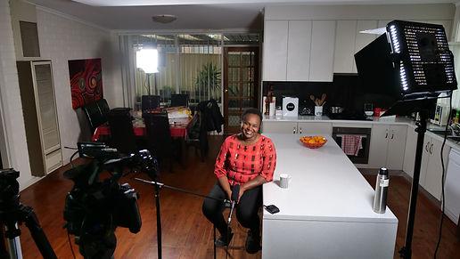 Janeanne being filmed