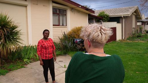 Lyndal filming Janeanne