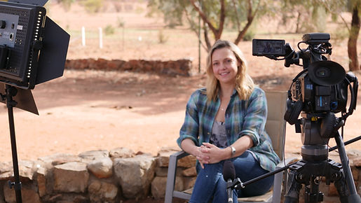 Kristy at Hamilton Station in the outback of South Australia