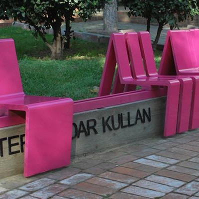 Interactive public furniture