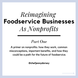 Reimagining Foodservice Businesses As Nonprofits