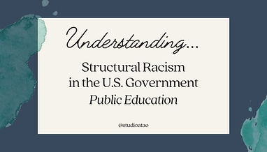 Cover image for Understanding Structural Racism in the U.S.: Public Education