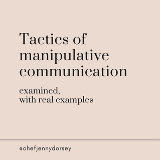 Tactics of Manipulative Communication