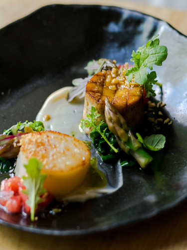 Scallops & Trumpet Mushrooms