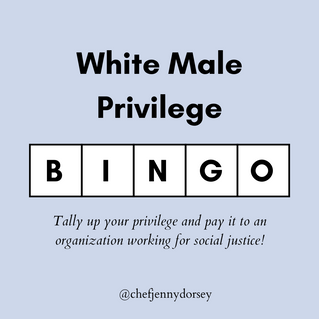 White Male Privilege Bingo