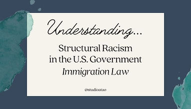 Cover image for Understanding Structural Racism in the U.S.: Immigration Law