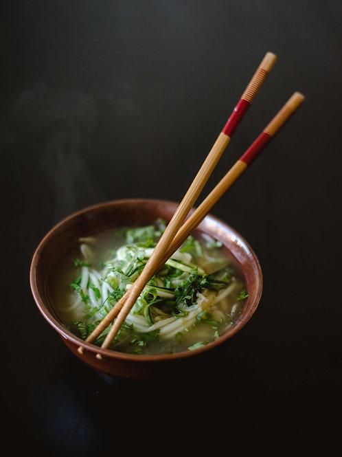 """5.25"""" Noodle Bowl with Chopstick Holder"""