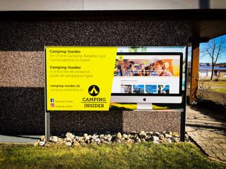Reklametafel TCS Camping Sempach