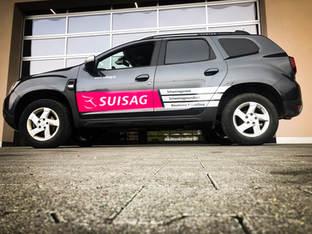 Fahrzeugbeschriftung SUISAG Sempach