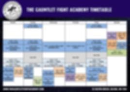 The Gantlet Fight Acadmy Timetable class times Ealing Martial Arts