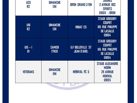 PLANNING DU WEEK-END : 31 OCTOBRE ET 1er NOVEMBRE.