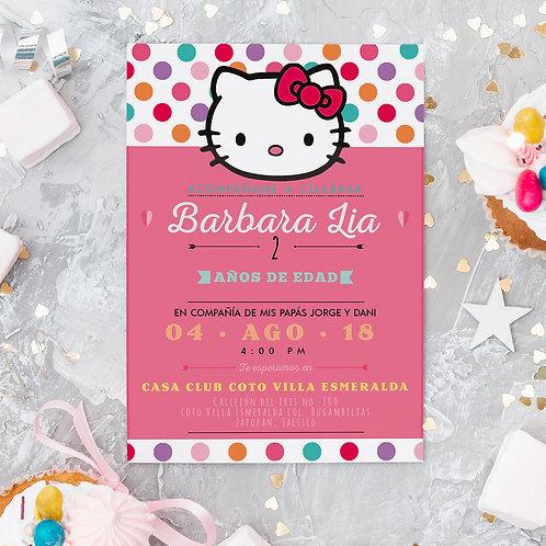Invitación Sencilla cumpleaños Infantil