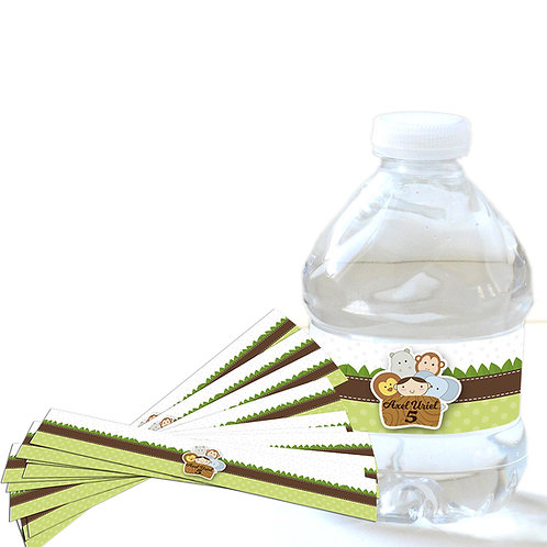 Paquete stickers (calcomanías) etiqueta agua