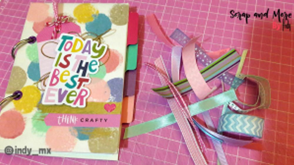 Libreta sencilla hecha a mano con pinturas acrilicas handmade notebook acrylic paint tutorial (13)