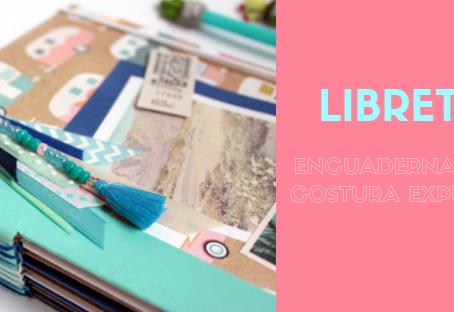 Libreta encuadernación costura expuesta