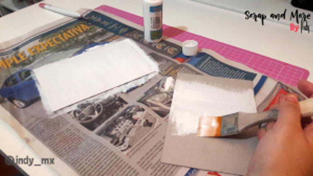 Libreta sencilla hecha a mano con pinturas acrilicas handmade notebook acrylic paint tutorial (2)