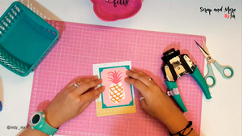 tutorial tarjeta verano piña cardamaking pineapple summer card (14)