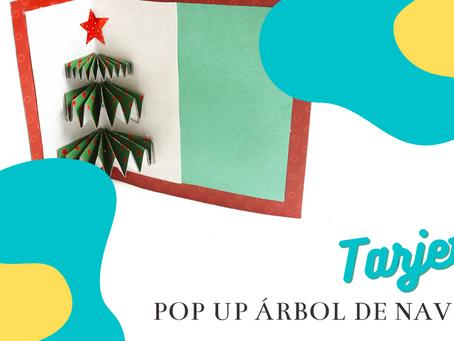 Tarjeta pop up de árbol de navidad