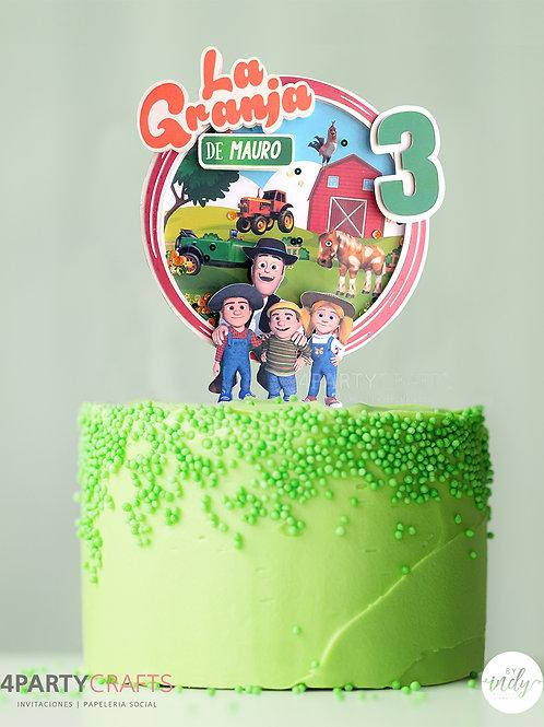 Cake topper personaje favorito