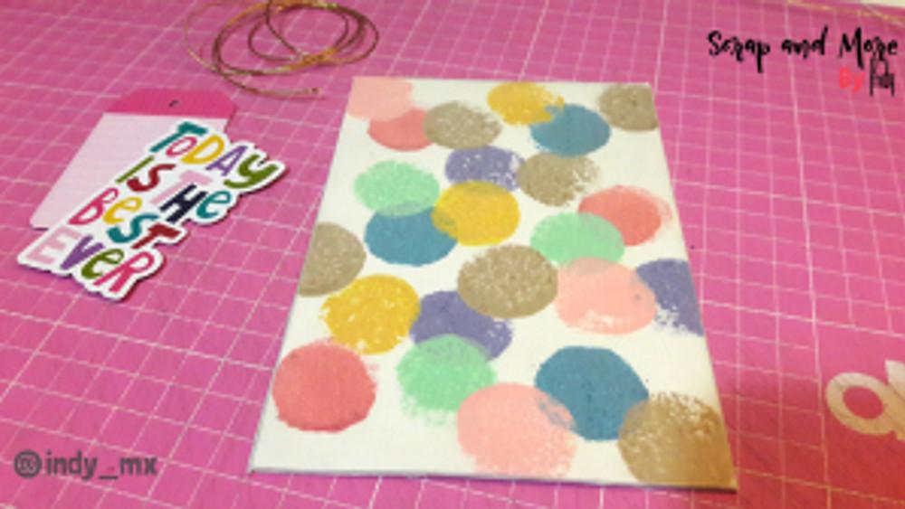 Libreta sencilla hecha a mano con pinturas acrilicas handmade notebook acrylic paint tutorial (9)