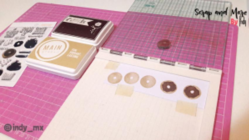 proceso tarjeta donas cardmaking donut card (6)