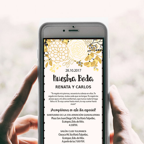 Invitación digital web