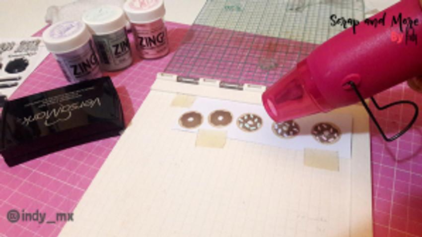proceso tarjeta donas cardmaking donut card (7)