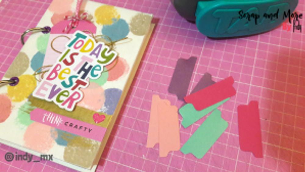 Libreta sencilla hecha a mano con pinturas acrilicas handmade notebook acrylic paint tutorial (12)