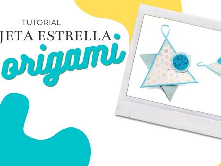 Tarjeta de origami estrella