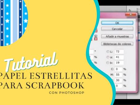 Papel para scrapbook de estrellas con photoshop