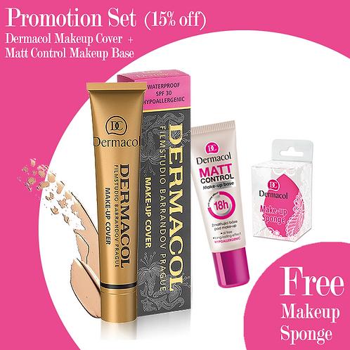 [Promo Set] Dermacol Makeup Cover + Matt Control makeup Base