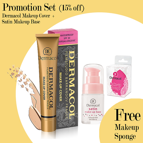 [Promo Set] Dermacol Makeup Cover + Satin makeup Base