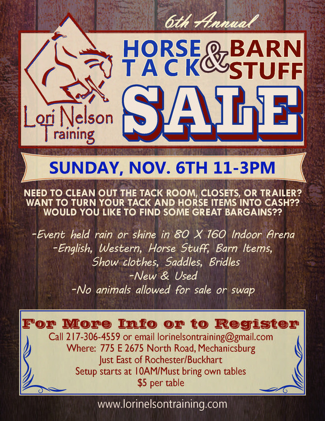 6th Annual LNT Tack Sale!