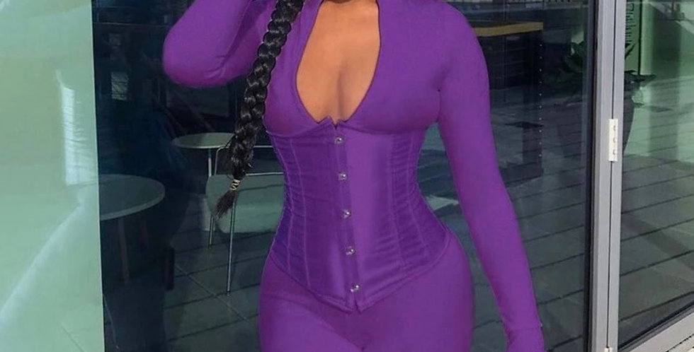 One piece fitted corset outfit