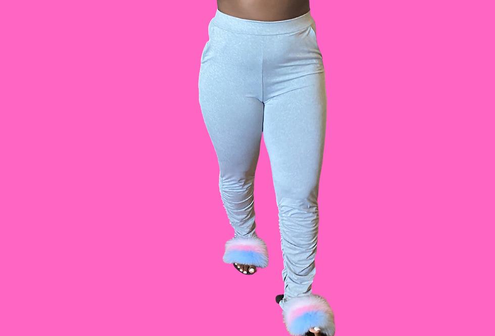 High Waist Sweatpants Stacked Leggings Ladies Streetwear Fitness Push Up Legging