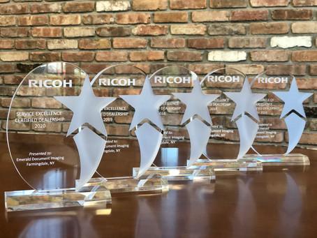 Emerald Wins 5th Straight Ricoh Service Award