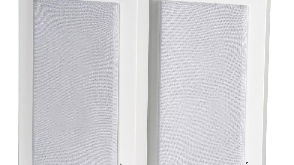DLS SWEDEN Flatbox Midi White Coppia Diffusori Casse Parete 150W 2 vie