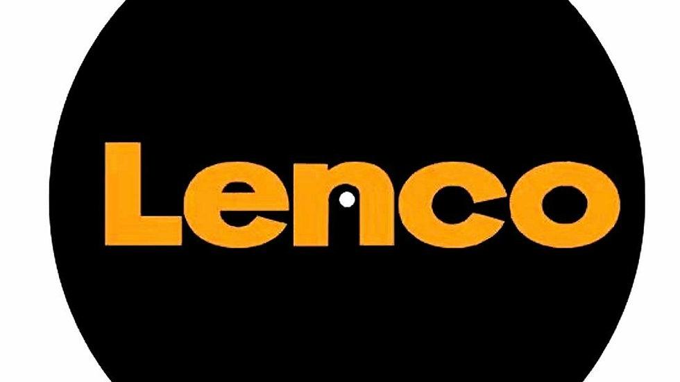 Tappetino per Giradischi DJ Slipmat 30cm Logo LENCO Feltro 3mm