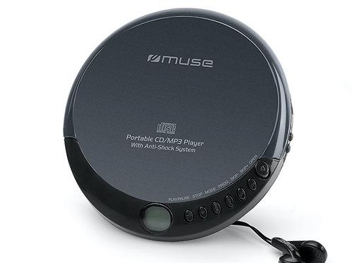 MUSE M-900 DM Lettore CD Portatile MP3 Anti-Shock Nero Cuffie Batterie Rete USB