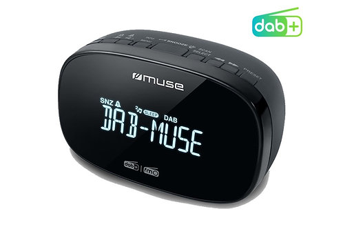 MUSE M-150 CDB Radiosveglia DAB+ / FM Doppio allarme 20 Memorie