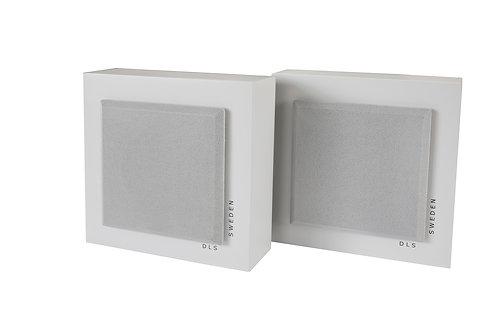 DLS SWEDEN Flatbox Slim Mini Coppia Diffusori Casse da parete 80W Bianco