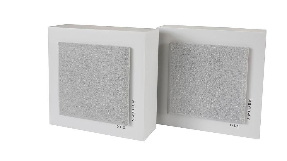 DLS SWEDEN Flatbox Slim Mini White Coppia Diffusori Casse da parete 80W