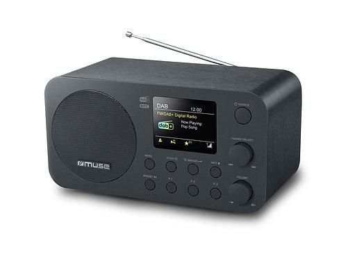MUSE M-128 DBT Radio da Tavolo DAB+ / FM RDS Bluetooth NFC Sveglia Legno Nero