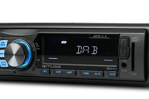 MUSE M-199 DAB Autoradio DAB+/FM Bluetooth USB SD, Antenna DAB+ inclusa, 40Wx4