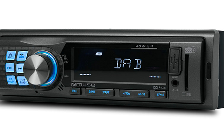 MUSE M-199 DAB Autoradio DAB+/FM Bluetooth USB SD, Antenna DAB+ inclusa, 40Wx4