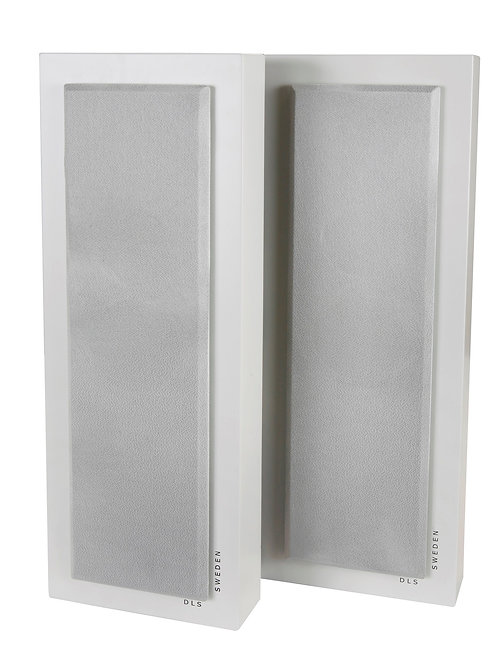 DLS SWEDEN Flatbox Slim Large Coppia Diffusori Casse da Parete 2 vie 120W Bianco