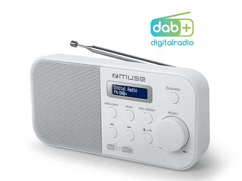 MUSE M-109DBW RADIO DIGITALE DAB+ FM RDS PORTATILE SVEGLIA PRESET PILE/CORRENTE