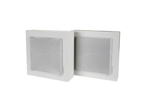 DLS SWEDEN Flatbox Mini Coppia Diffusori Casse da parete 2 Vie 120W Bianco